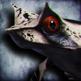 Animated Game Ready Malayan Horned Frog