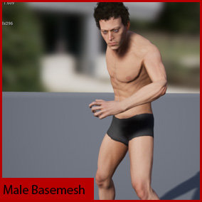 Male Basemesh - compatible with Epic skeleton