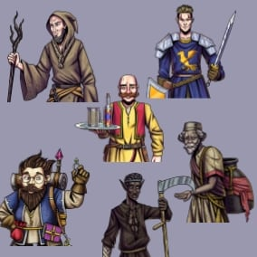 Six male NPCs to fill out your world - 95 unique dialogues performed by 3 different voice actors. Perfect for all your NPCs in your RPG or fantasy game.