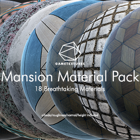 A pack of 18 Mansion themed Materials built specifically for Unreal by the pros at GameTextures.