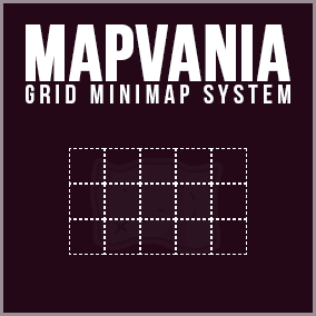 Grid-based map system like in metroidvania games