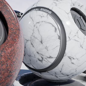 Selection of 12 assorted PBR marble materials ready to use.