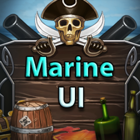 91 handpainted parts of Marine UI