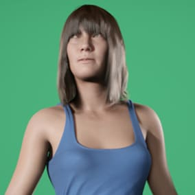 Marta is a modern, optimized character based on real scan data and integrated with the Epic human pipeline.