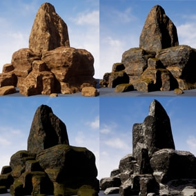 Light and useful shader for quick adding diversity for rocks and other sculpted formations in your scene or game.