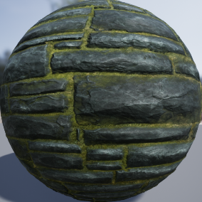 PBR material with high resolution (4096x4096): Masonry materials consisting of 20 units.