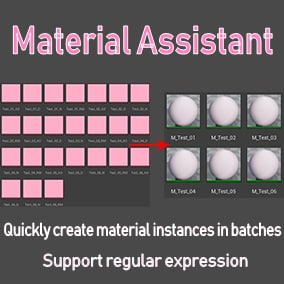 Are you bored when you create material instances with a bunch of textures of the same type? This plugin supports rapid batch creation of material instances, Greatly improve work efficiency.
