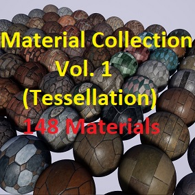 A pack of 148 PBR Materials (Tessellation)