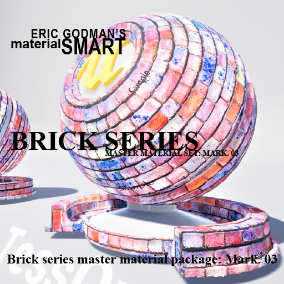 A Set of 18 smart master materials with high customization features for brick/tile related material instances, featuring mobile materials, grunge options, normal mip bias options, bump offset, and tessellation.