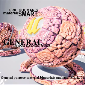 A Set of 27 smart master materials with high customization features for general purpose material instances, featuring mobile materials, PC materials, bump offset, and tessellation.