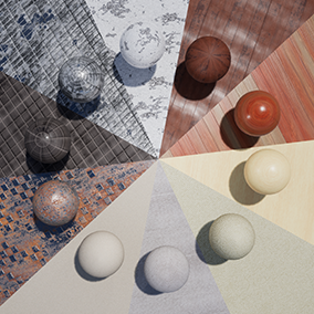 A variety pack of High Quality PBR Materials created procedurally with customizable sliders allowing you to control the appearance output by each material to better fit your scene.