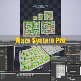 Maze System Pro contains an algorithm for generating a maze based on your input, two methods (DFS and BFS algorithm) for path finding, customizable variables, as well as an example AI which has ability to find a shortest path out of the maze.