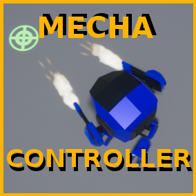 A project template implementing a Mecha character/controller and its turrets, which you can configure freely.