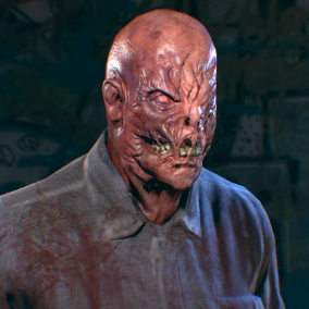 The character is perfect as a zombie for your game.