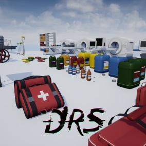 low poly medical assets