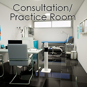 A medical consultation/practice room made with 40 hight quality meshes. Scene Included..