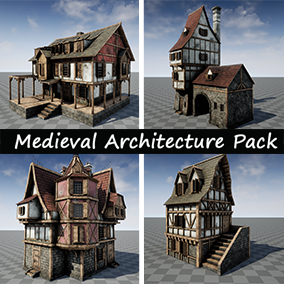High quality pack for the creation of fantasy or medieval environments.