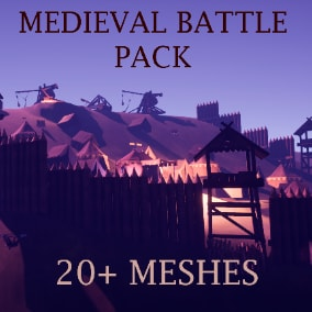 Complete medieval pack with all the equipment you need for the long sieges and battles!