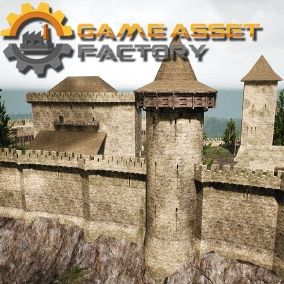 Build high quality realistic medieval castle with or without interior,  using over 300 modular meshes.