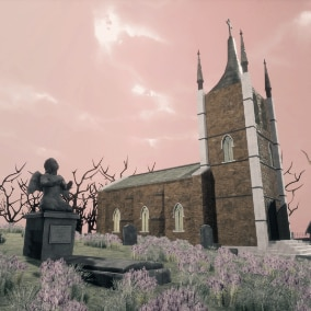 Medieval Cemetery - Full Pack for VR or other project.