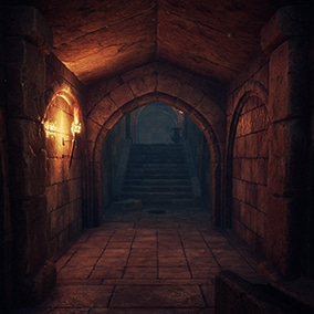 A set of assets to build a game-ready location in medieval style.