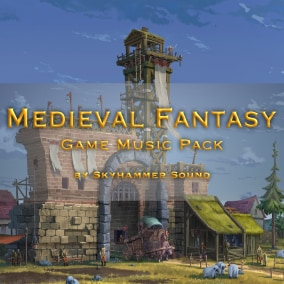 This music pack is a great match for action and adventure RPG games inspired by medieval themes and all kinds of fantasy settings.
