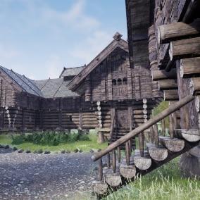 10 Modular Medieval Fantasy Norwegian Houses with Interiors