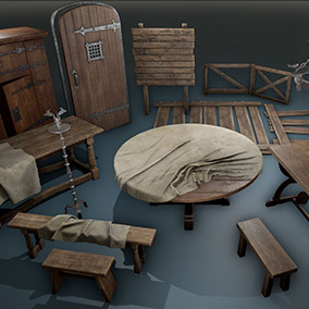 Medieval Furniture Pack 2