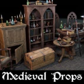 A collection of high quality Medieval/Gothic inspired props optimized for use in games!