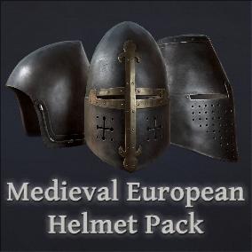 European medieval helmets