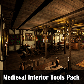 In this package you can create a realistic medieval interior.