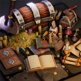 Collection of 15+ essential medieval loot items!