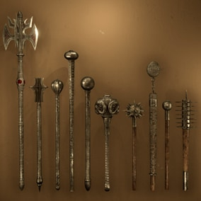 High Quality Medieval Mace Pack for FPS, RPG levels and games. Researched and based off authentic medieval reproductions.