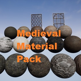 A pack of 19 Medieval/ Fantasy themed Materials