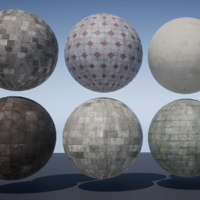The package of 7 PBR Materials.