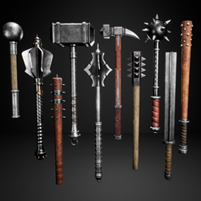 A collection of 10 different Medieval Melee Weapons with PBR Textures. Perfect to use in any first or third person game.