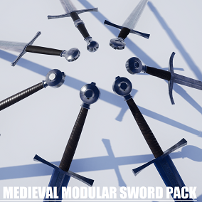 Pack of historically accurate medieval sword parts, designed with love to history.