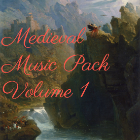 A medieval music pack containing loopable tracks and short ident clips