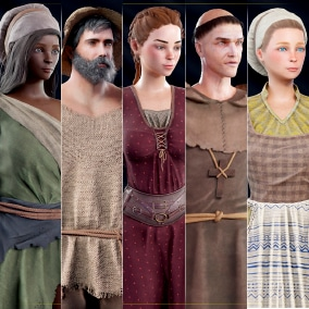 Game ready Medieval NPC pack