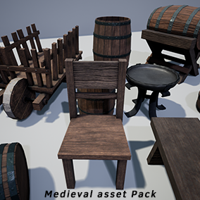 A pack that contains High Quality models with PBR Textures