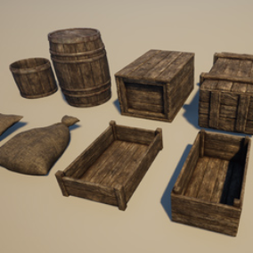 A collection of medieval themed props.