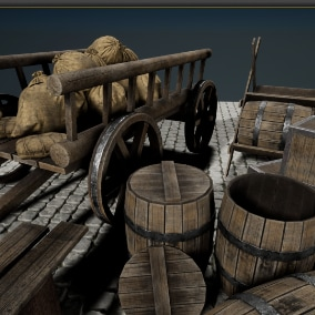 Medieval Pack of realistic props for RPG\HORROR\FANTASY or another  type of games