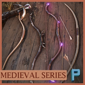 8  Medieval Ranged Weapons, ready to use!