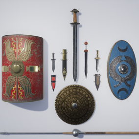 A collection of 8 medieval weapons.