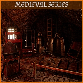 Contains realistic High Quality PBR Medieval Tortures: breast ripper, decapitation axe, hanging cage, head crusher, heretic's fork, iron chair, iron maiden, judas cradle, pear of anguish, pillory, rack table, shrew's fiddle etc. Also fits fantasy env.
