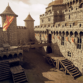 Medieval Stronghold Architecture pack contains everything you need to build your very own stronghold. Pack includes interior/exterior architectural modules plus goodies like furniture, vertex-paintable materials, and canvas for artists.