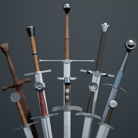 High Quality Medieval Sword Pack for games.