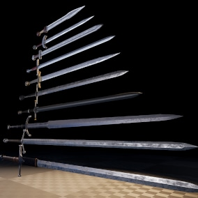 Medieval swords made with love and with refference of real swords made by skilled blacksmiths