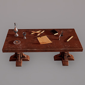 - Medieval Table Setup - Low poly models for Your Interior scenes.