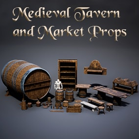 Medieval Assets Pack with 30 unique meshes.